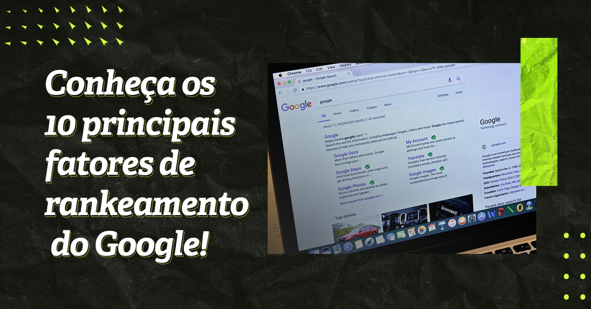 fatores de rankeamento do Google
